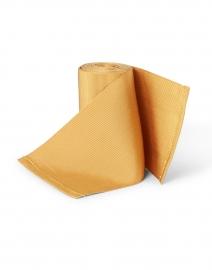Sara Roka - Golden Yellow Wide Satin Ribbed Belt