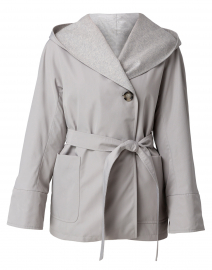 Gray Short Hooded Jacket