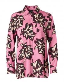 Pink Floral Print Blouse