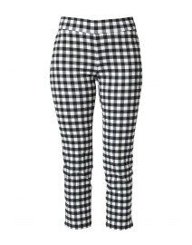 Brigitte Black and White Cropped Pull-On Pant