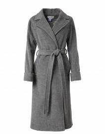 Grey Cashmere Wool Wrap Coat