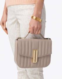 DeMellier - Vancouver Stone Quilted Leather Crossbody Bag