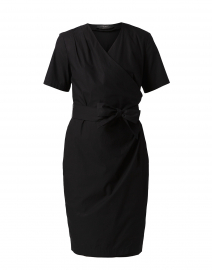 Felino Black Cotton Wrap Dress