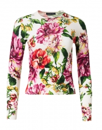 Charlotte Multi Floral Silk and Cashmere Sweater