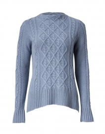 Harbor Blue Cable Cashmere Sweater
