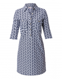 Sloane Navy Chain Link Henley Dress