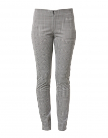 Jasmine Black and White Plaid Stretch Pant