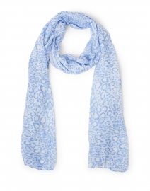 Blue and Ivory Animal Print Modal Scarf