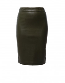 Drew Evergreen Faux Leather Pencil Skirt