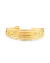 Arpa Gold Wired Cuff Bracelet