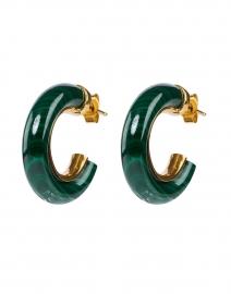Malachite Green Small Hoop Earrings