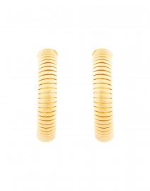 Gas Bijoux - Milo Gold Cobra Hoop Earrings