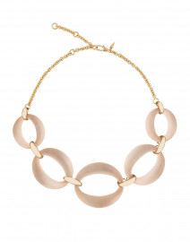 Pale Pink Lucite Link Necklace