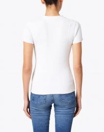 Ecru - White Mixed Stitch Polo Top