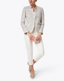 Helene Berman - Lilac Tweed Notched Jacket