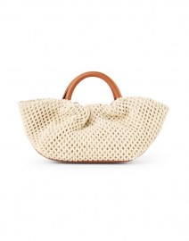 DeMellier - Mini Los Angeles Natural Crochet and Leather Bag