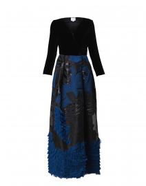 Chantal Navy and Black Brocade Dress