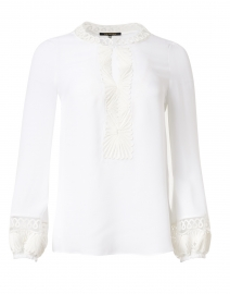Arya Ivory Embroidered Silk Georgette Blouse