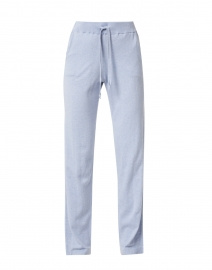 Light Blue Thermal Trim Cotton Lounge Pant