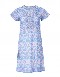 Ikat Iris Printed Cotton Dress