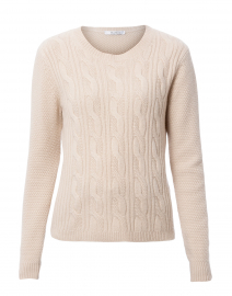 Termoli Vanilla Cashmere Cable Knit Sweater