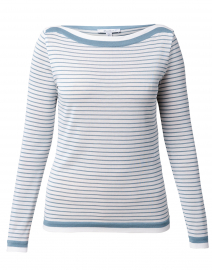 Ugolina Blue and White Striped Cotton Sweater