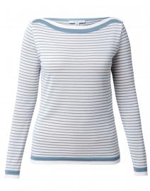 Ugolina Blue and White Striped Cotton Sweater