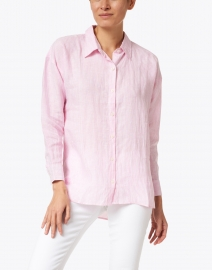 Pomegranate - Pink Stripe Cotton Shirt