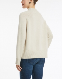 Allude - Shadow White Cashmere Sweater
