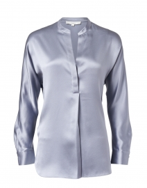 Piero Blue Silk Blouse