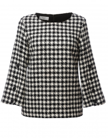 Black and White Houndstooth Top