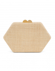 Arianne Natural Geometric Straw Clutch