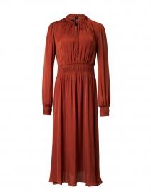 Mahogany Satin Shirt Dress