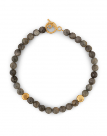 Grey Labradorite and Gold Nugget Necklace
