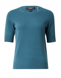 Lake Blue Knit Cashmere Top