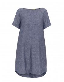 Hinata Blue Linen Dress