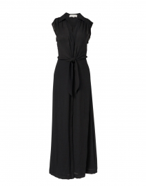 Madsen Black Crinkle Gauze Dress