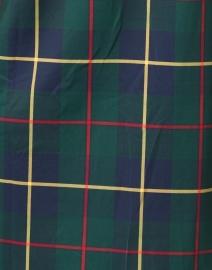 Gretchen Scott - Plaidly Green Plaid Ruffle Neck Dress