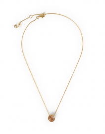 Morganite Gold Pendant Necklace