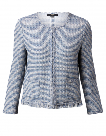 Blue and White Tweed Jacket