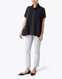 Peserico - Charcoal Grey Wool Silk Cashmere Knit Top