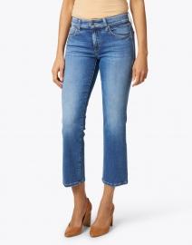 Cambio - Paris Medium Blue Cropped Stretch Denim Jean