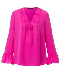 Mia Blossom Pink Silk Blouse