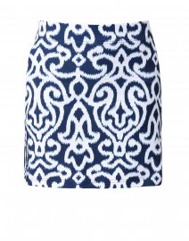 Navy and White Printed Skort