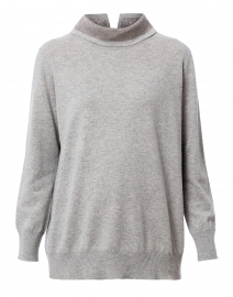 Grey Lurex Wool Cashmere Sweater