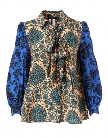 Liriche Multi Foulard Print Silk Blouse