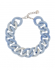 Ana Pale Blue Resin Link Necklace