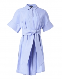 Light Blue Poplin Cotton Shirt Dress
