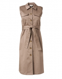 Sonny Mink Grey Stretch Cotton Shirt Dress