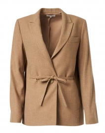 Taupe Wool Flannel Blazer